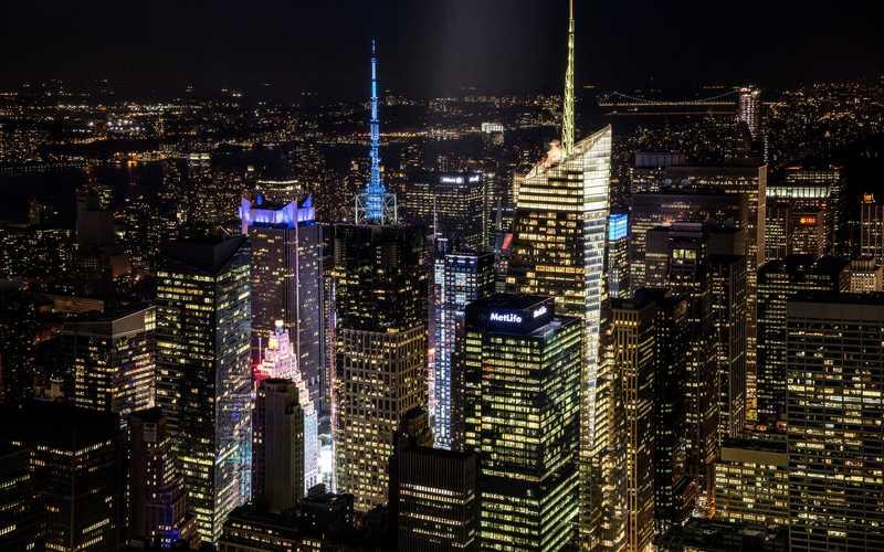 Архитектурное освещение в Манхэттене