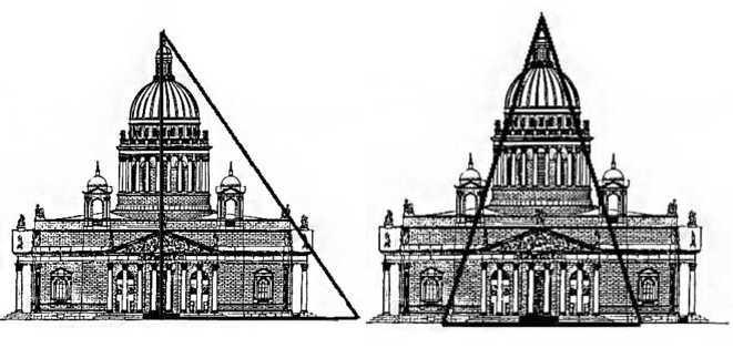 Золотые треугольники в Исаакиевском соборе
