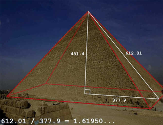 Золотое сечение в пирамиде Хеопса
