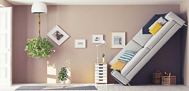 Хаотичное расположение мебели