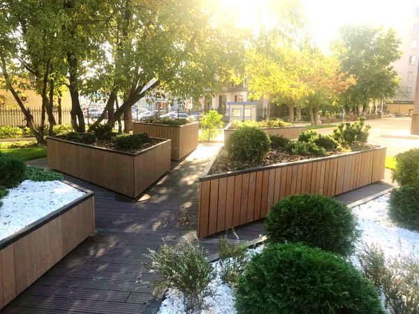 Вид ландшафтной архитектуры - проект тактильного сада
