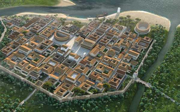 Архитектура Древнего Рима: планировка древнего Римини (реконструкция)