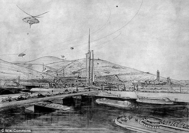 Ф. Райт. Исчезающий город. Иллюстрация