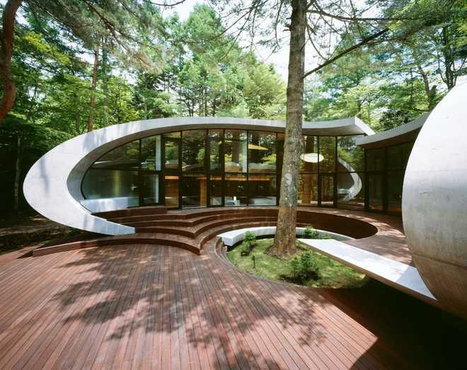 органическая архитектура вилла в Японии
