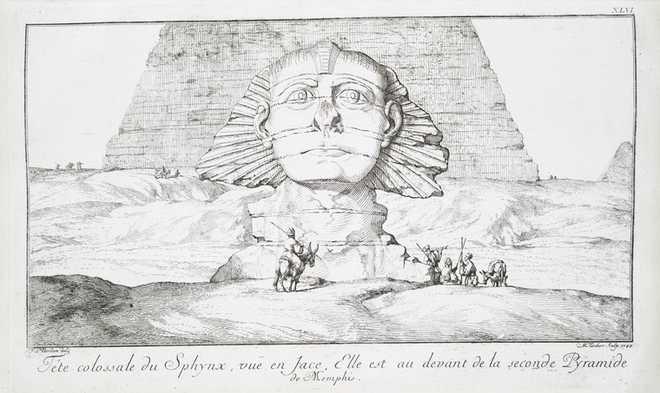 Сфинкс в Египте Худ. Норден, 1737 г
