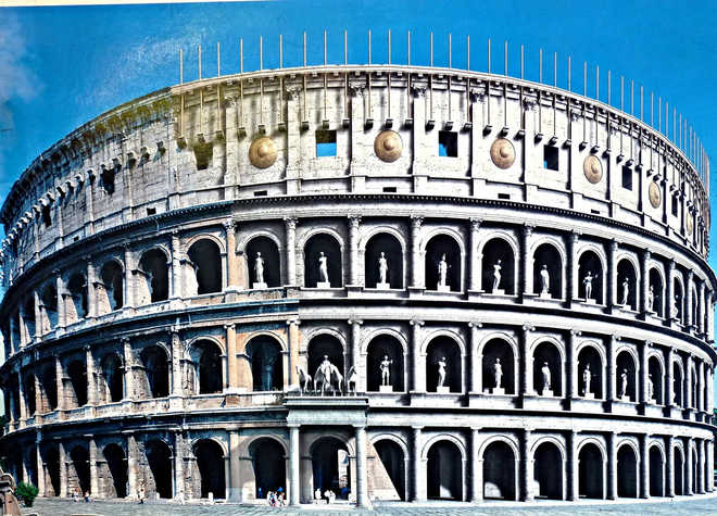 Колизей Рима фото реконструированной модели