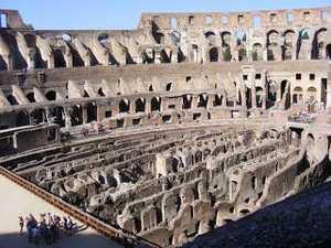 Колизей Рима: фото подвальных помещений