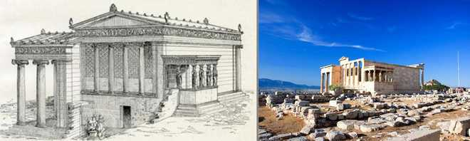 Архитектура Древней Греции кратко Храм Эрехтейон