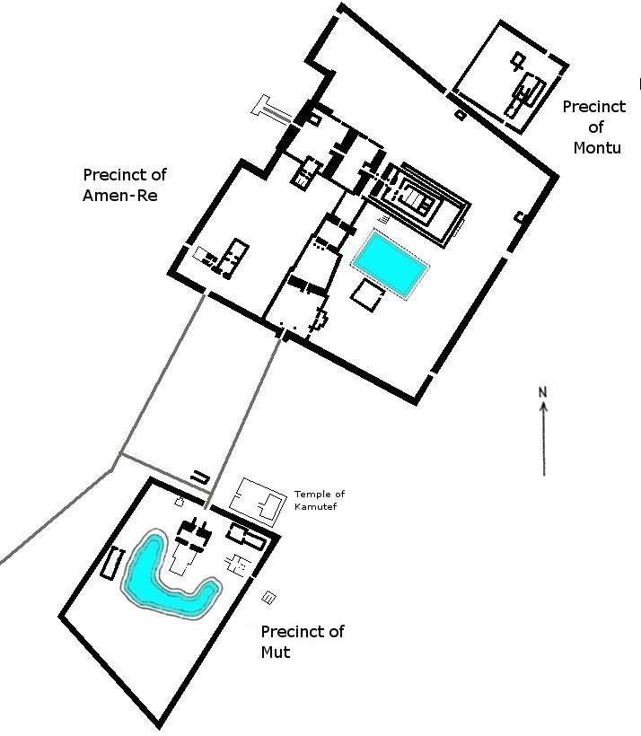 Карнакский храм. План