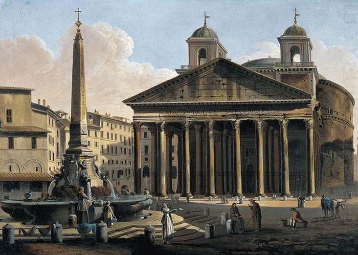 Пантеон в Риме 19 века