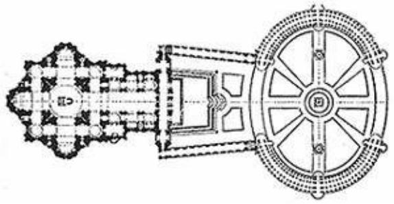 Собор Св. Петрав в Риме: план