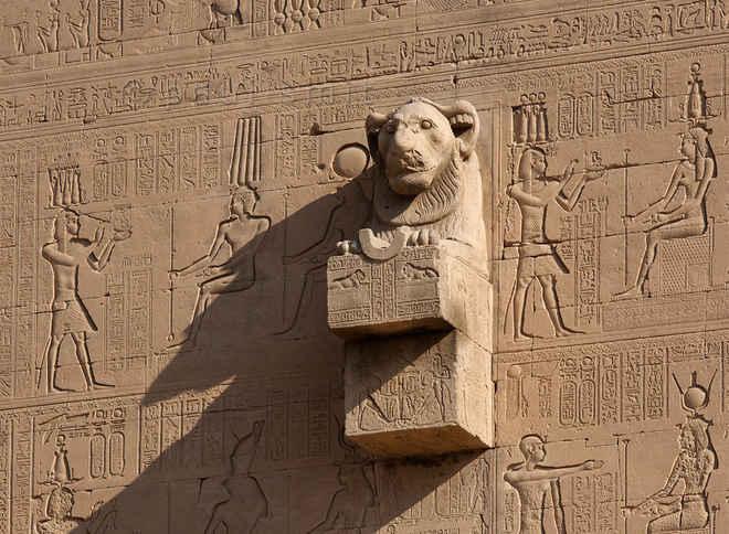 Гаргульи в архитектуре Древнего Египта