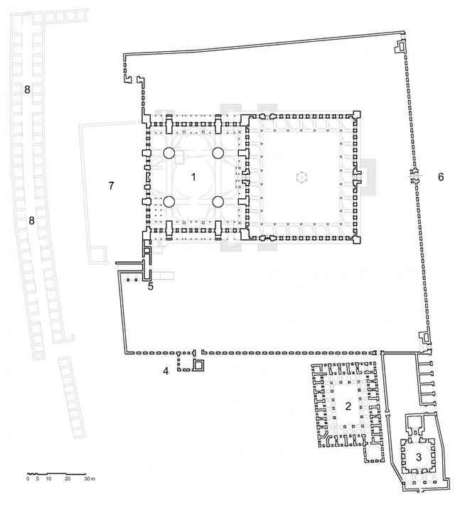 План Голубой мечети в Турции