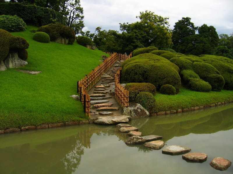 Ландшафтный дизайн сада: японский стиль