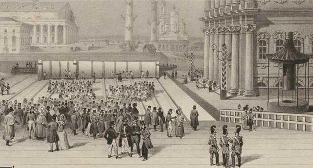 выгрузка Александровской колонны