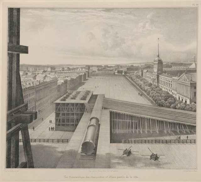 Александрийский столп перед установкой