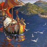вид на Любшанскую крепость на картине Рериха
