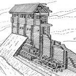 Деревянные стены крепости Древне й Руси