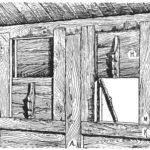 вертикальное волоковое окно русской избы