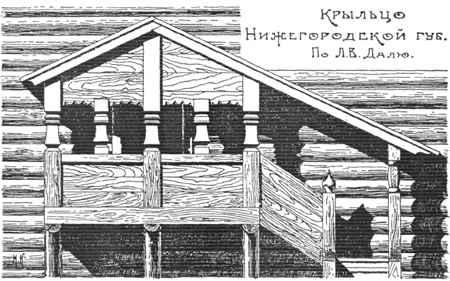 Крыльцо древнерусской избы
