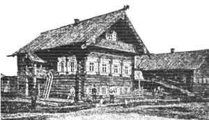 двухэтажная русская изба